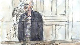 Vincent Debraize, suspecté d'avoir agressé Nathalie Kosciusko-Morizet, lundi 19 juin 2017 au tribunal correctionnel de Paris. (BENOIT PEYRUCQ / AFP)