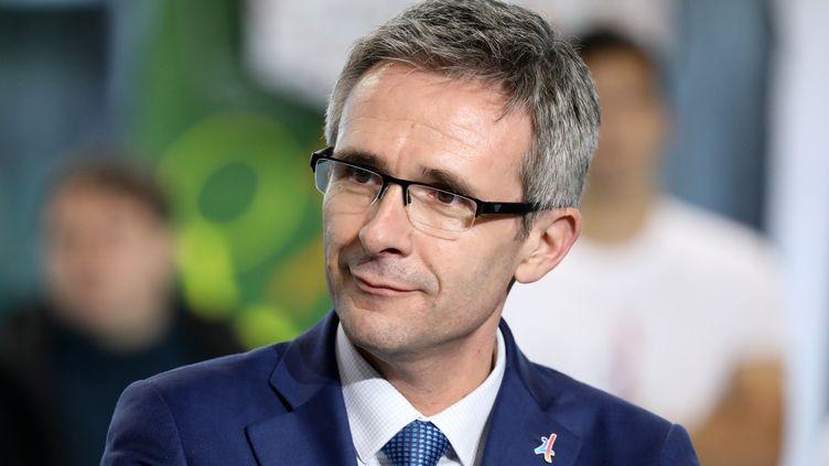 Le président du conseil départemental de Seine-Saint-Denis, Stéphane Troussel, le 27 février 2018, à Villetaneuse (Seine-Saint-Denis). (LUDOVIC MARIN / AFP)