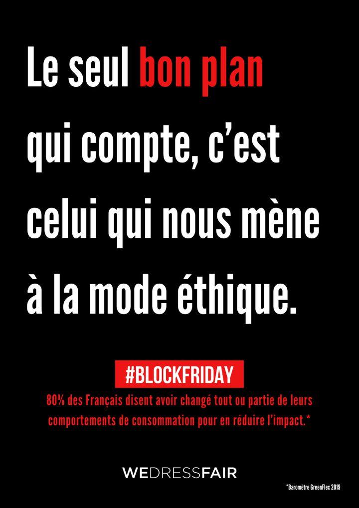 Campagne de Wedressfaire contre le Black Friday, 2019 (WEDRESSFAIR)
