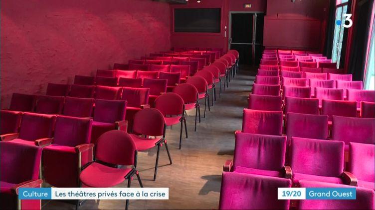 la salle vide de La Compagnie de Café-Théâtres de Nantes (France 3 Pays de la Loire E. Faure / A. Armand)
