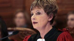 Chantal Arens, la présidente du tribunal de grande instance de Paris, le 14 janvier 2014. (JACQUES DEMARTHON / AFP)