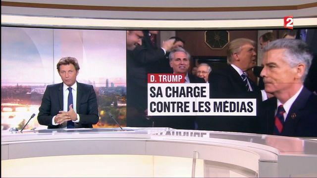 D. Trump : sa charge contre les médias