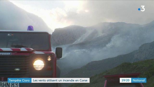 Tempête Ciara : les vents forts attisent un incendie en Corse