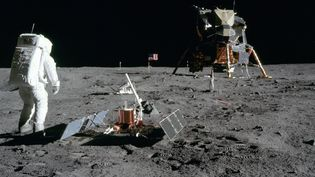 L'astronaute Edwin Aldrin, sur la Lune, le 20 juillet 1969. (NASA)
