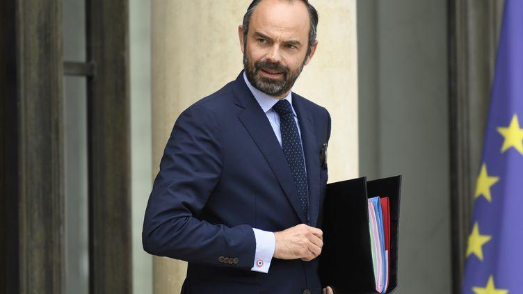 Le Premier ministre, Edouard Philippe, sort de l'Elysée le 9 août 2017, à Paris. (BERTRAND GUAY / AFP)