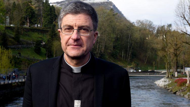 le président de la Conférence des évêques de France, Eric de Moulins-Beaufort, le 3 avril 2019. (LAURENT FERRIERE / HANS LUCAS / AFP)