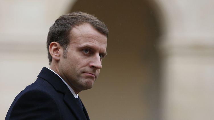 """Le président Emmanuel Macron a affirmé mercredi que """"tout le pays est en deuil"""" après la mort de Johhny Hallyday.  (Thibault Camus / AFP)"""