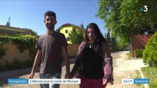 Un couple de migrants arrêté en Albanie (France 3)