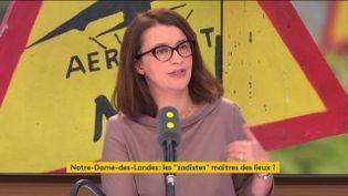 Cécile Duflot le 13 décembre 2017 sur franceinfo. (FRANCEINFO / RADIO FRANCE)