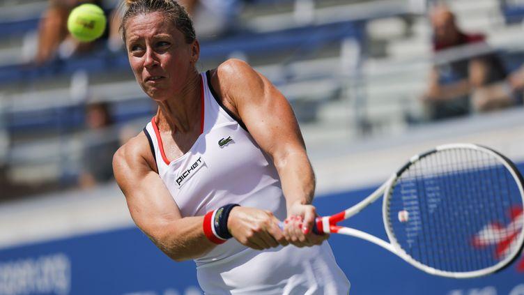 Pauline Parmentier, ici à l'US Open 2016, est une habituée de l'équipe de France de Fed Cup. (EDUARDO MUNOZ ALVAREZ / AFP)