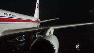 Un avion à l'aéroport dePyongyang (Corée du Nord), le 24 juillet 2013.Merrill Newman, un Américain, a été arrêté juste avant le départ de son avion pour Pékin le 26 octobre 2013, selon son épouse. (ILIYA PITALEV / RIA NOVOSTI / AFP)