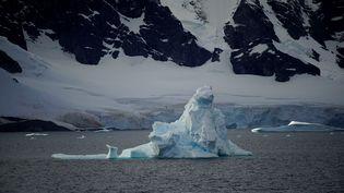 Un iceberg près des côtes de l'Antarctique, le 15 février 2018. (ALEXANDRE MENEGHINI / X03465)