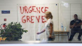 Le service des urgences de La Timone à Marseille (Bouches-du-Rhône) en grève, le 14 août 2019. (MAXPPP)