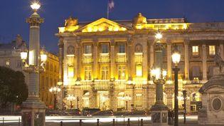 Le Palace Le Crillon, situé place de la Concorde, à Paris. (GARDEL BERTRAND / HEMIS.FR / AFP)