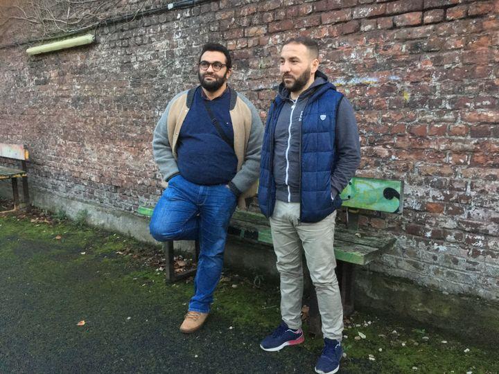 Ali Rahni et Samir Hadjdoudou à Roubaix (Nord), le 11 décembre2018. (ELISE LAMBERT/FRANCEINFO)