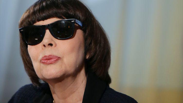 Mireille Mathieu, à Moscou (Russie), le 27 août 2012. (VALERIY MELNIKOV / RIA NOVOSTI / AFP)