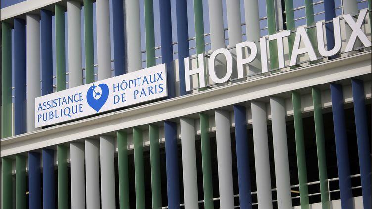L'entrée des locaux de l'AP-HP, à Paris, le 18 mai 2018. (MAXPPP)