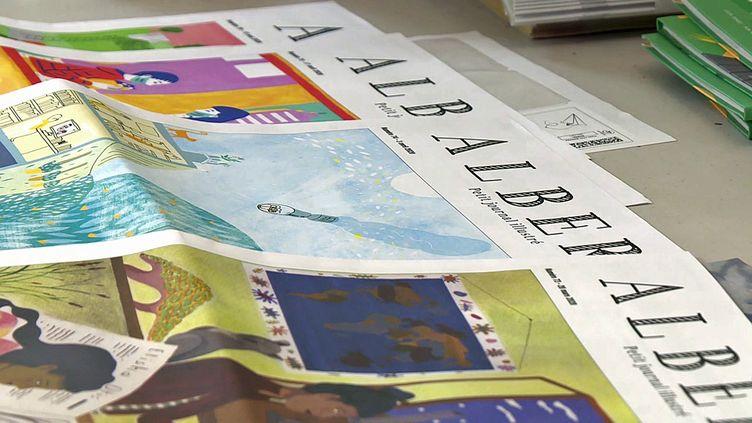 """""""Albert"""" le petit journal illustré pour les 8-13 ans édité par la maison d'édition de Clermont-Ferrand """"La Poule qui pond"""" (France 3 AURA)"""