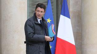Le porte-parole du gouvernement Benjamin Griveaux à la sortie du Conseil des ministres, à l'Elysée, le 17 janvier 2018. (LUDOVIC MARIN / AFP)