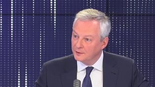Bruno Le Maire, le 29 mars 2021, sur franceinfo. (FRANCEINFO / RADIOFRANCE)