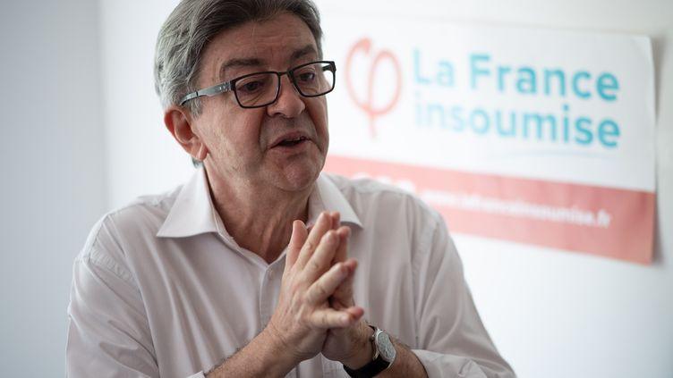Le chef de file de La France insoumise, Jean-Luc Mélenchon, lors d'une conférence de presse à Marseille (Bouches-du-Rhône), le 6 juin 2020. (CHRISTOPHE SIMON / AFP)