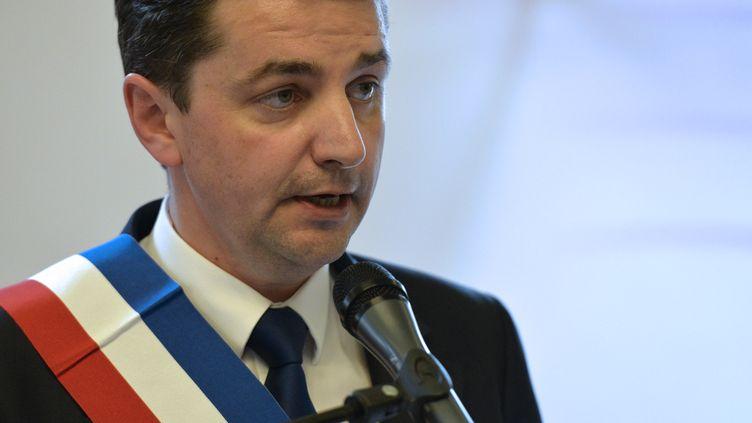 Gaël Perdriau, le maire de Saint-Etienne (Loire), le 4 avril 2014. (JEAN-PHILIPPE KSIAZEK / AFP)