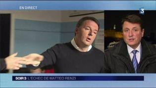 Matteo Renzi et François Beaudonnet (FRANCE 3)