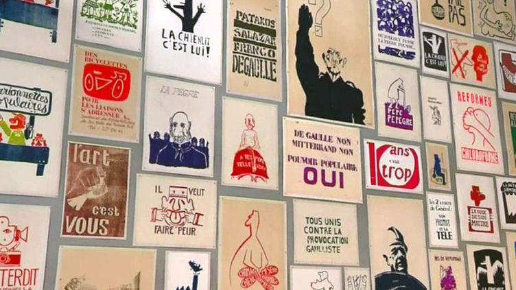 Les affiches en lutte aux Beaux-Arts  (France 3 Culturebox capture d'écran)