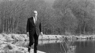 François Mitterrand, le 13 avril 1981, à Chateau-Chinon. (JEAN-CLAUDE DELMAS / AFP)