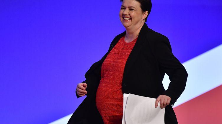 La leader du parti conservateur, Ruth Davidson, le 1er octobre 2018 à Birmingham (Royaume-Uni). (BEN STANSALL / AFP)