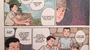 """Extrait du manga """"La Montagne magique"""". (DR)"""
