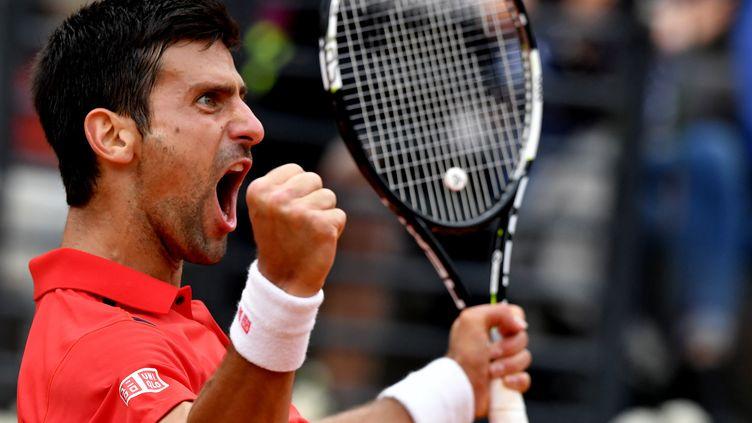 Novak Djokovic a tout donné pour vaincre Rafael Nadal (TIZIANA FABI / AFP)