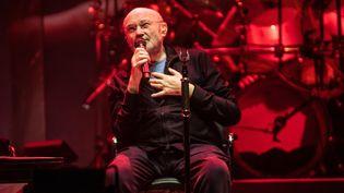 Phil Collins sur scènelors d'un concert de Genesis le 28 septembre 2021 au Leeds Arena, en Angleterre (AVALON / MAXPPP)