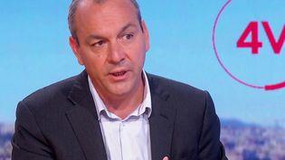 """Le secrétaire général de la CFDT, Laurent Berger, était l'invité des """"4 Vérités"""" de France 2, mercredi 1er septembre. (CAPTURE ECRAN FRANCE 2)"""