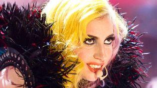 Lady Gaga dans un show télé britannique en 2010.  (Brian J. Ritchie/Hotsau/REX/SIPA)