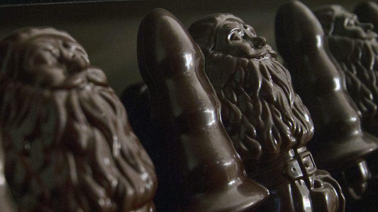 Le père Noël en chocolat de Paul McCarthy à la Monnaie de Paris  (EPA/MAXPPP)
