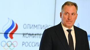 Le président du Comité olympique russe Stanislas Pozdnyakov, à Moscou, le 25 mars 2021. (EVGENY ODINOKOV / SPUTNIK / AFP)