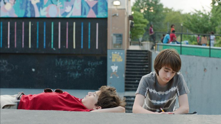 Michael Barbieri et Theo Taplitz, les deux adolescents de Brooklyn VIllage (dr)