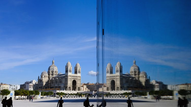 L'esplanade du Mucem à Marseille où devait se tenir l'édition 2020 de la Fiesta des Suds. (BORIS HORVAT / AFP)