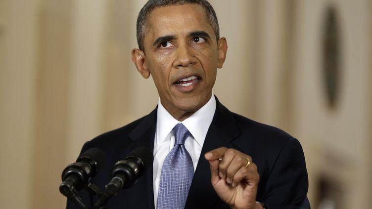 Le président américain Barack Obama dans un discours à la Nation depuis la Maison Blanche à Washington, le 10 septembre 2013. ( REUTERS)