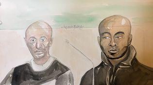Rabia Hideur (à gauche) et Daouda Baba, le 31 mars 2016 devant la cour d'assises de Paris. (ELISABETH DE POURQUERY / FRANCETV INFO)