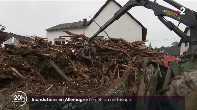 Inondations en Allemagne : entre fatigue et colère, l'heure du grand nettoyage