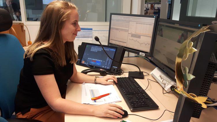 Perline Legentil, coordinatrice processus journalier chez EDF. (GREGOIRE LECALOT / RADIO FRANCE)
