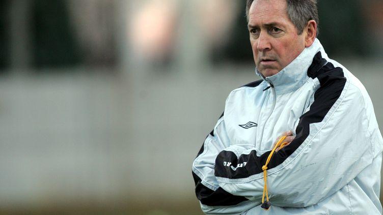 Gérard Houllier, le 8 décembre 2006, alors qu'il entraînait l'OL. (MAXPPP TEAMSHOOT)
