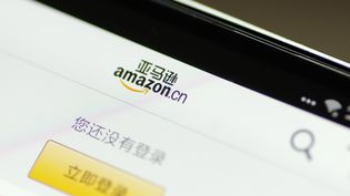 Une capture d'écran du site chinois d'Amazon. (DA QING / IMAGINECHINA / AFP)