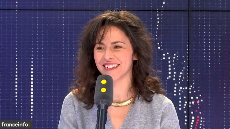 """Elodie Buzuel, reponsable de l'émission """"Le jour du Seigneur"""" sur France 2, invitée de franceinfo le vendredi 12 avril 2019 (FRANCEINFO / RADIOFRANCE)"""