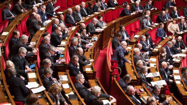 Des députés dans l'hémicycle de l'Assemblée nationale, le 10 février 2016. (MAXPPP)