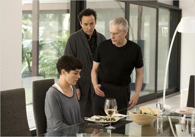 """John Cusak, Olivia Williams et David Cronenberg sur le tournage de """"Maps to the Stars"""" de David Cronenberg  (Entertainment One)"""