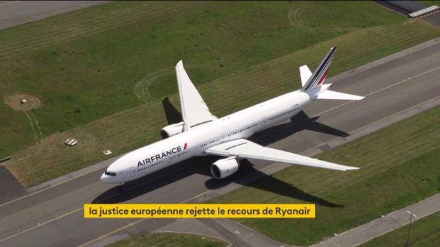 Transport aérien : la justice européenne rejette le recours de Ryanair contre Air France.