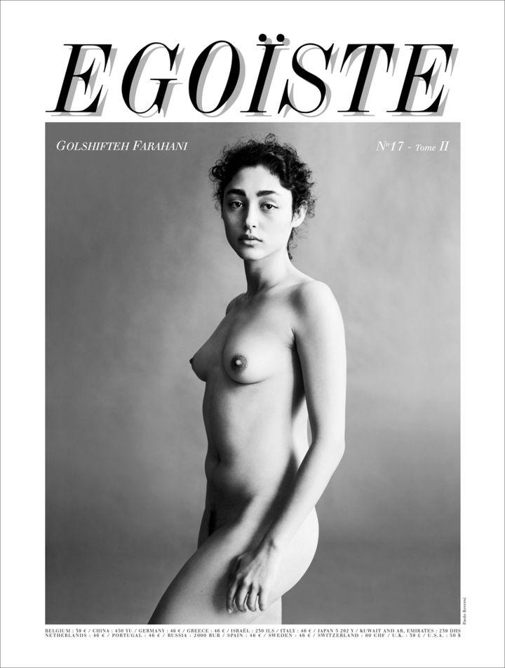 """L'actrice iranienneGolshifteh Farahani pose nue en couverture du magazine """"Egoïste"""", sous l'objectif du photographe de mode Paolo Roversi, pour son numéro de février 2015. (PAOLO ROVERSI / EGOISTE )"""